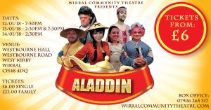 Aladdin Pantomime 2018 Wirral